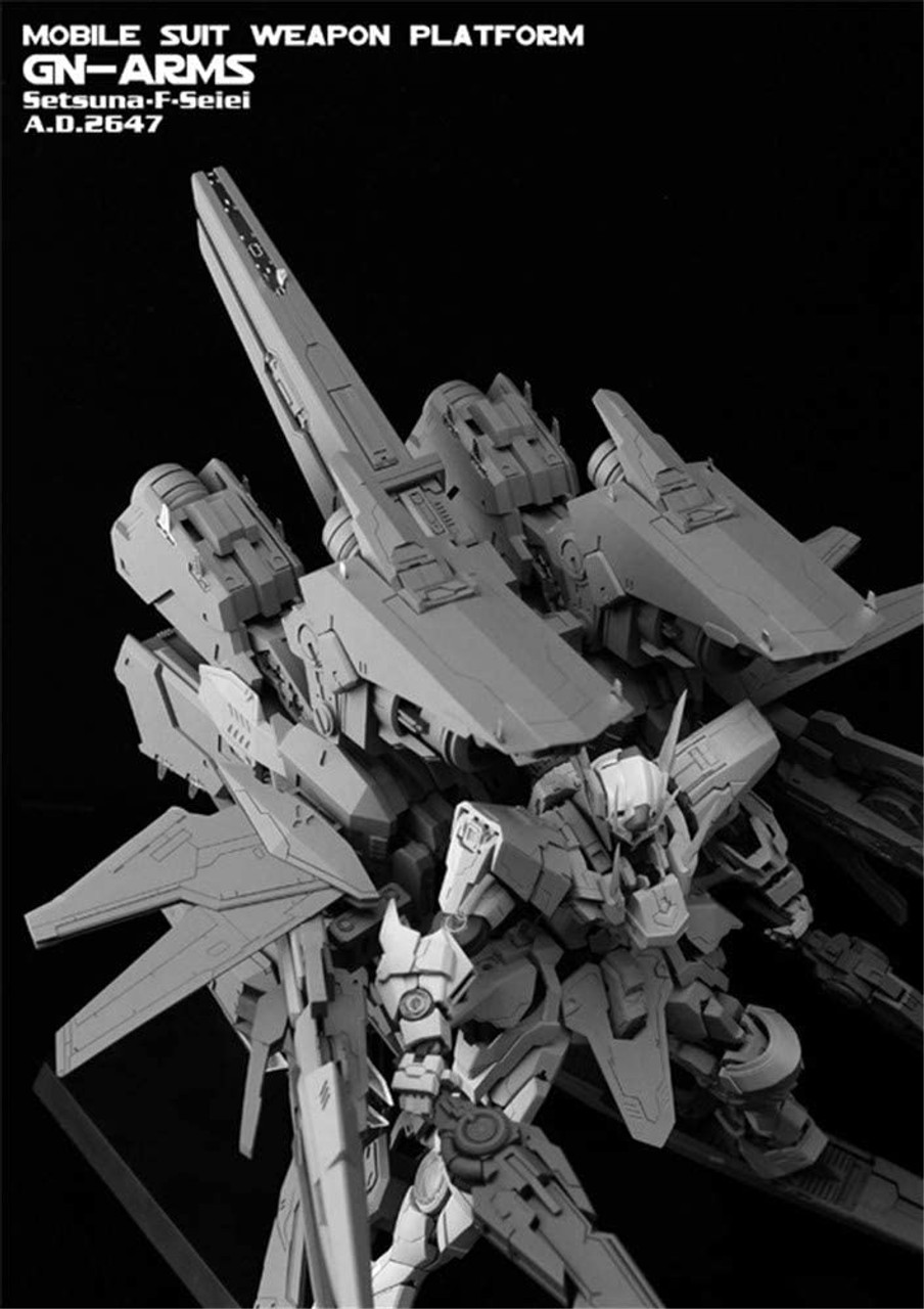 STICKLER_STUDIO MG 1/100 GK Modified Parts GN-ARMS Uncolored / Unassembled Garage Kit * The main body is not included