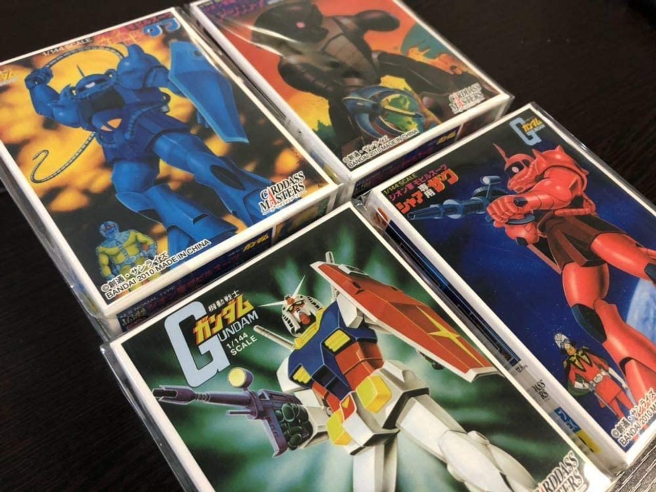 BANDAI Carddass Masters Official Sleeve Collection EX Gunpla Sleeve 4 Types Gundam, Char's Zaku, Gouf, Acguy