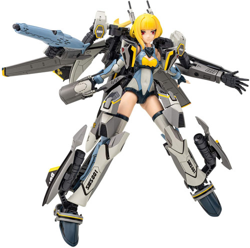 Aoshima set of VFG Macross Frontier VF-25S Messiah Height approx. 155mm and Gunbuster Height approx. 24cm 1/1000mm Scale, color-coded plastic model TN-01