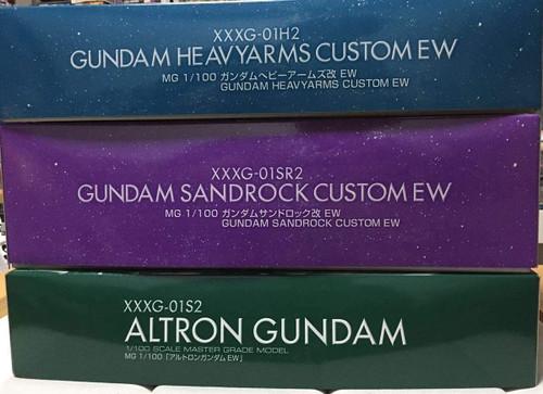 BANDAI Premium Limited MG Heavyarms custom EW, Sandrock custom EW, Altron Gundam EW Unassembled 3 Body Set Gundam W EW