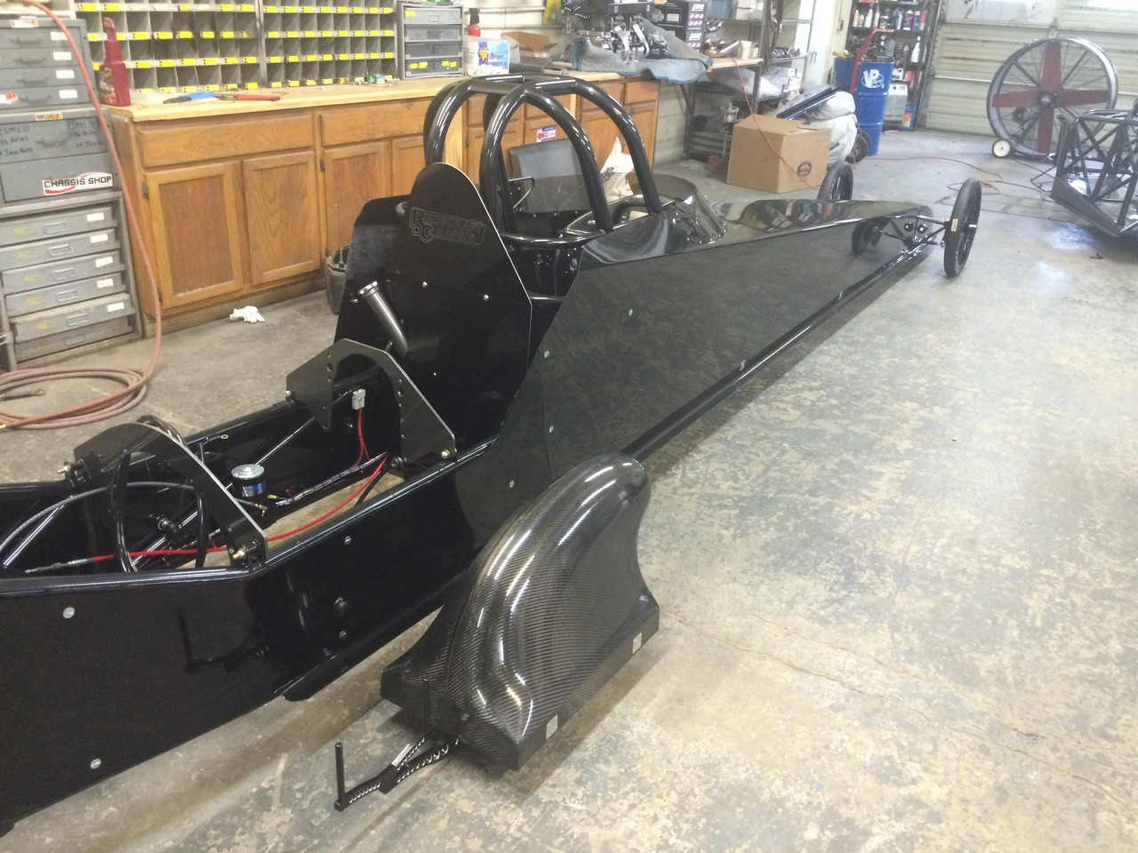 Danny Nelson Racecraft Chassis Stage 5 Top Dragster Swingarm Carbon Car