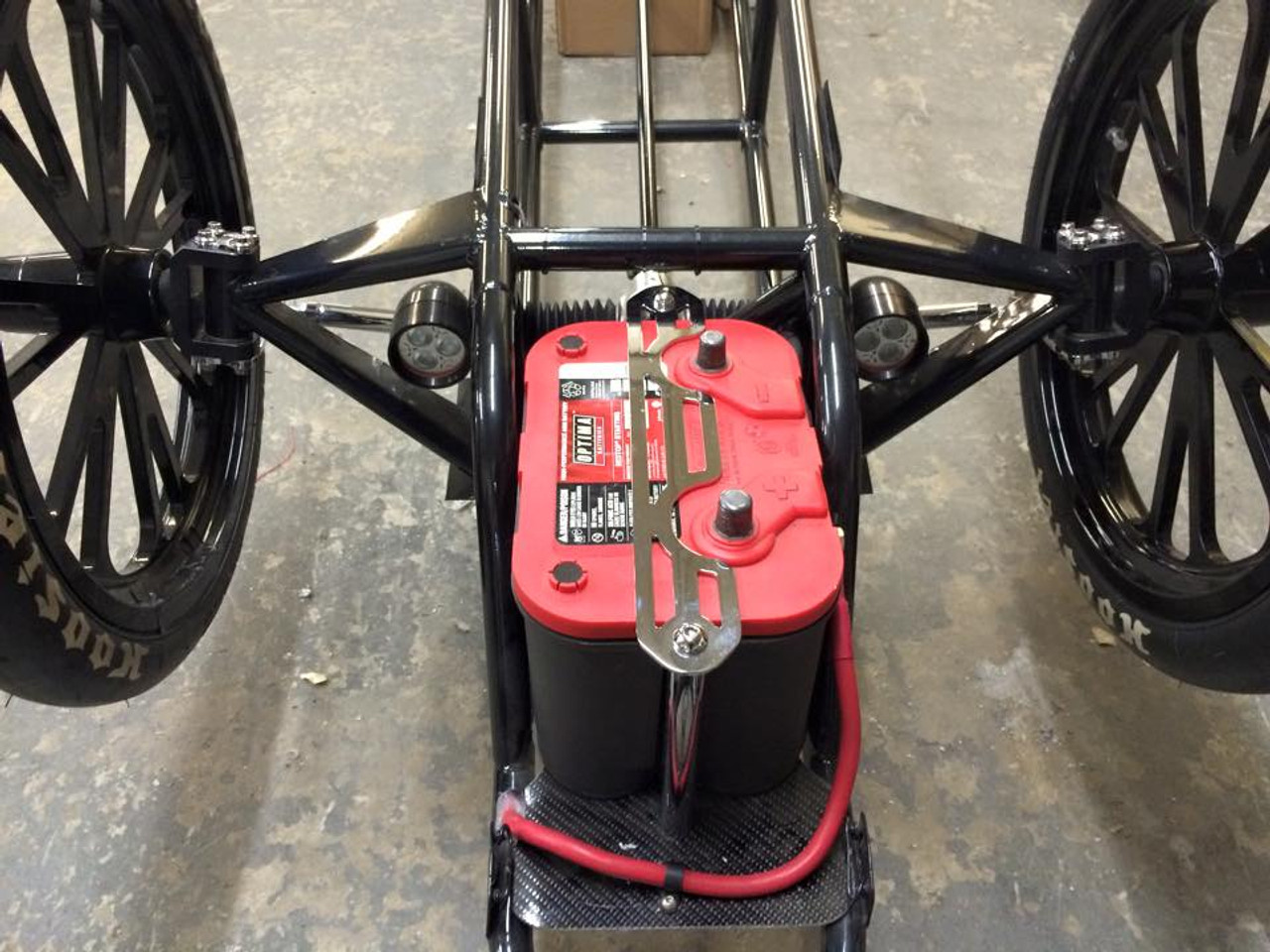 Danny Nelson Racecraft Chassis Stage 5 Top Dragster Swingarm Carbon Car front end