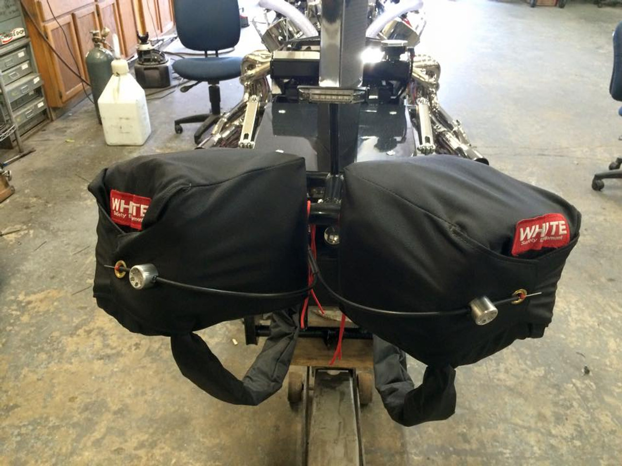 Danny Nelson Racecraft Chassis Stage 5 Top Dragster dual parachutes