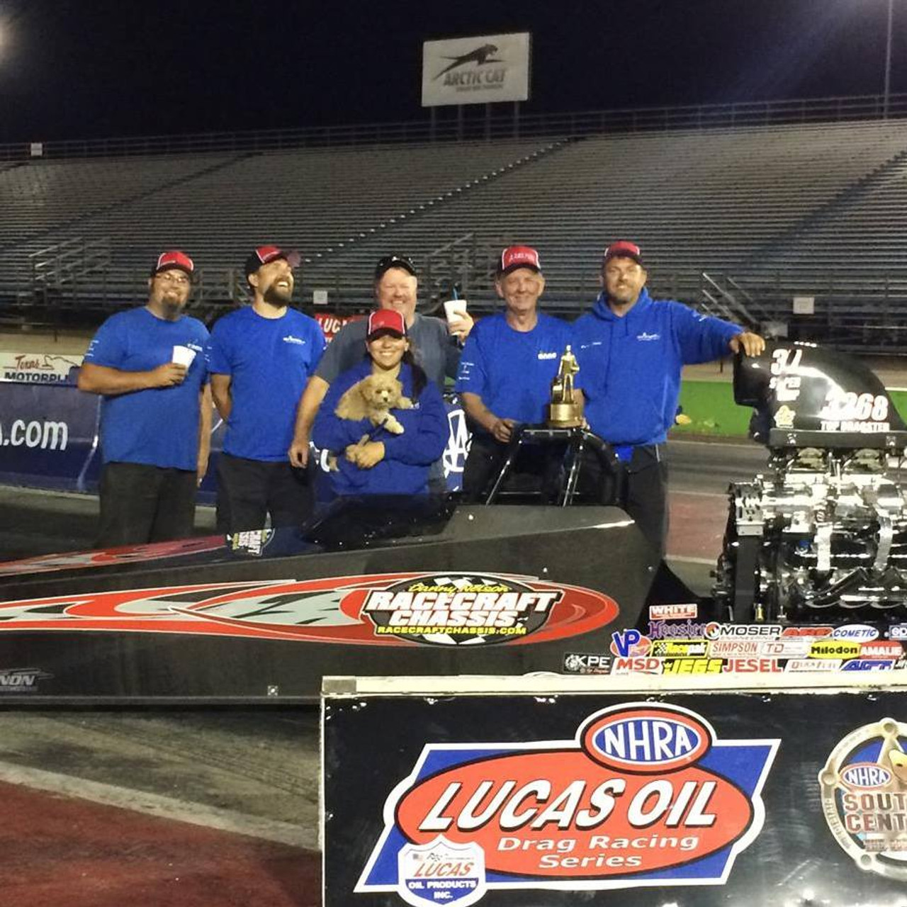 Danny Nelson Racecraft Top Dragster Carbon Car Race Win