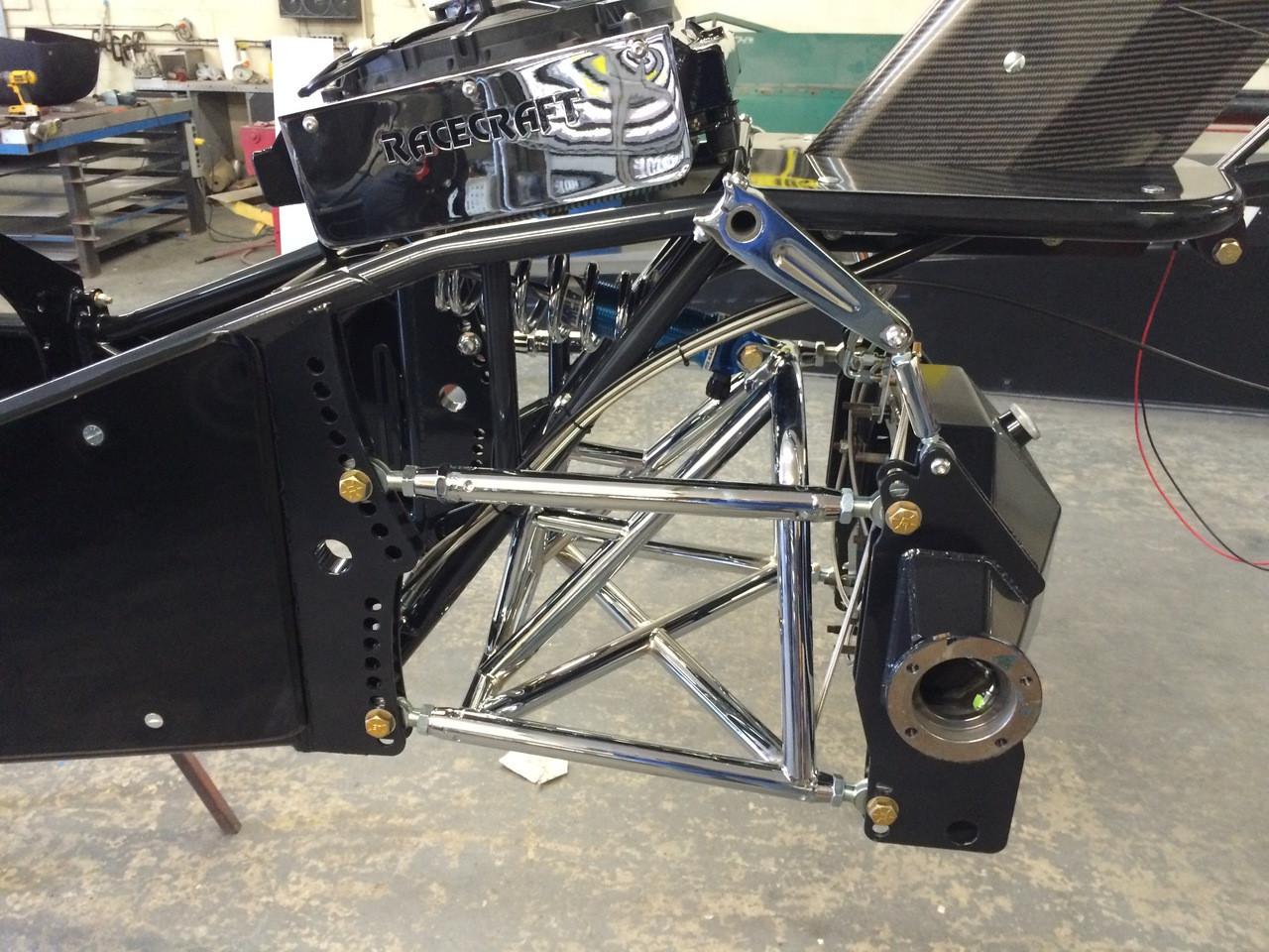 Danny Nelson Racecraft Top Dragster Carbon Car Chrome Swingarm