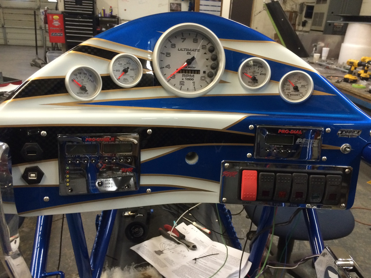 Danny Nelson Racecraft Chassis Dash