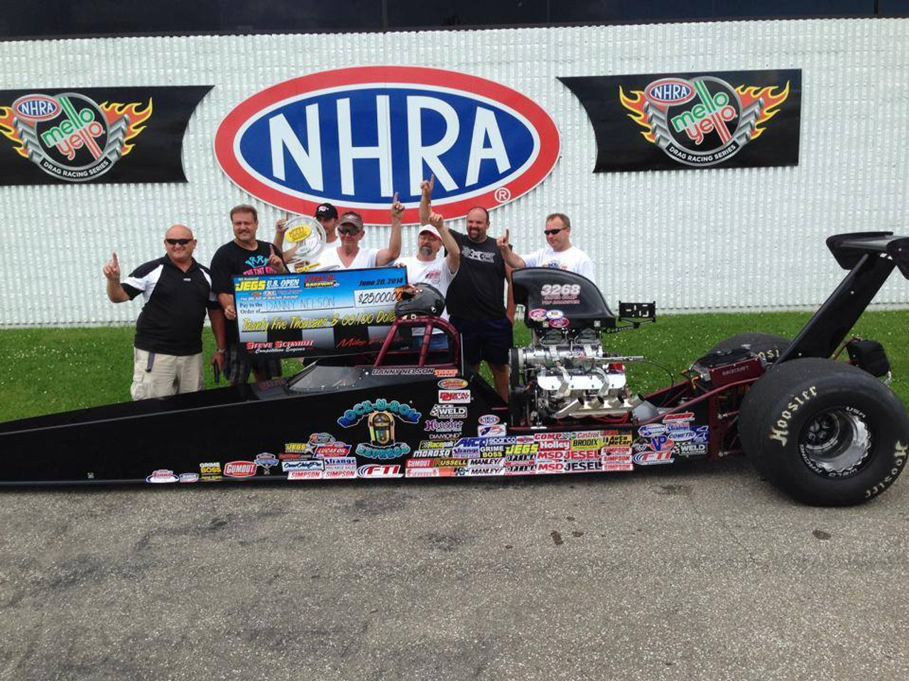 Danny Nelson Racecraft Chassis race win
