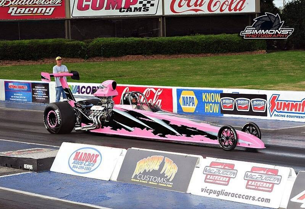 Danny Nelson Racecraft Chassis pink dragster
