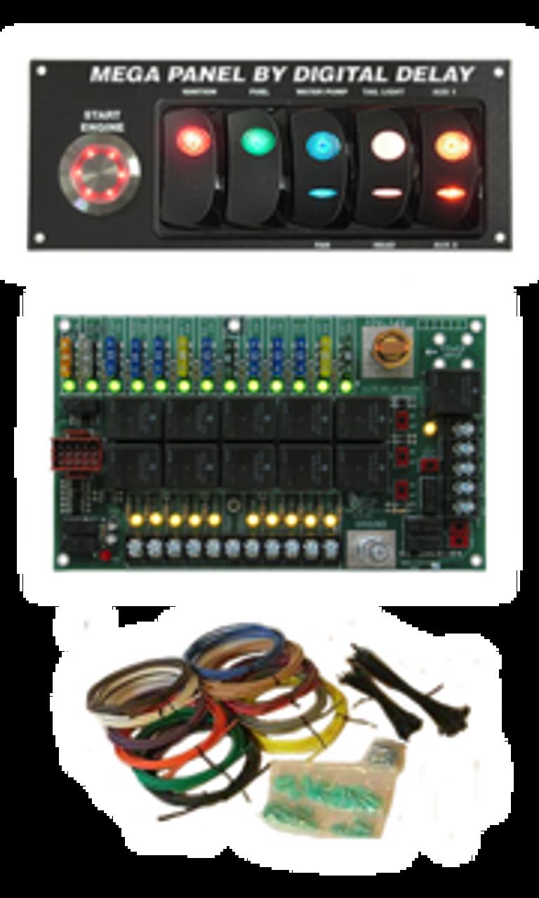 digital delay elite mega switch panel ~ black  biondo mega 450 wiring diagram #7
