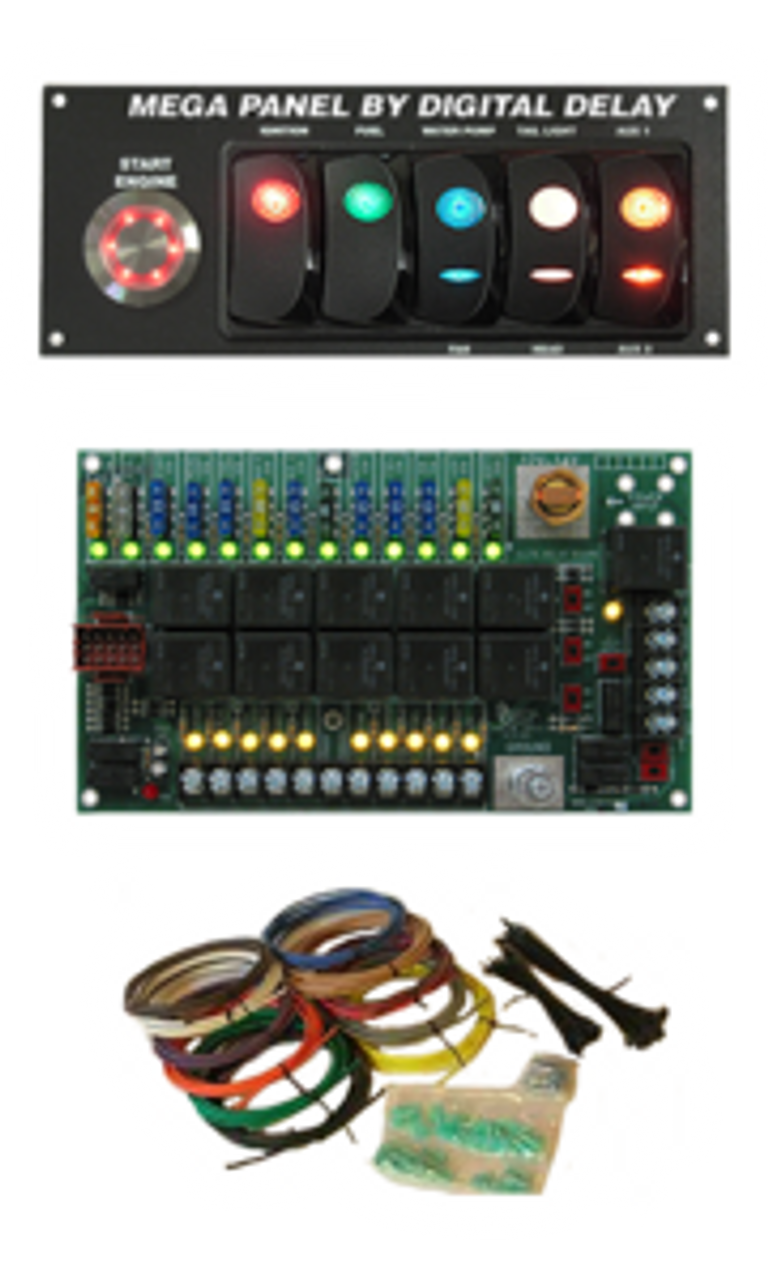 1049E-BW-EMP Digital Delay Elite Mega Switch Panel ~ Black