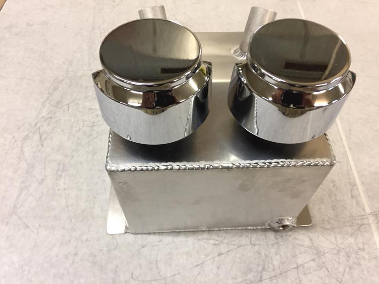 Racecraft Engine Supercharger Breather PUKE Tank, W/Filters, W/Baffles