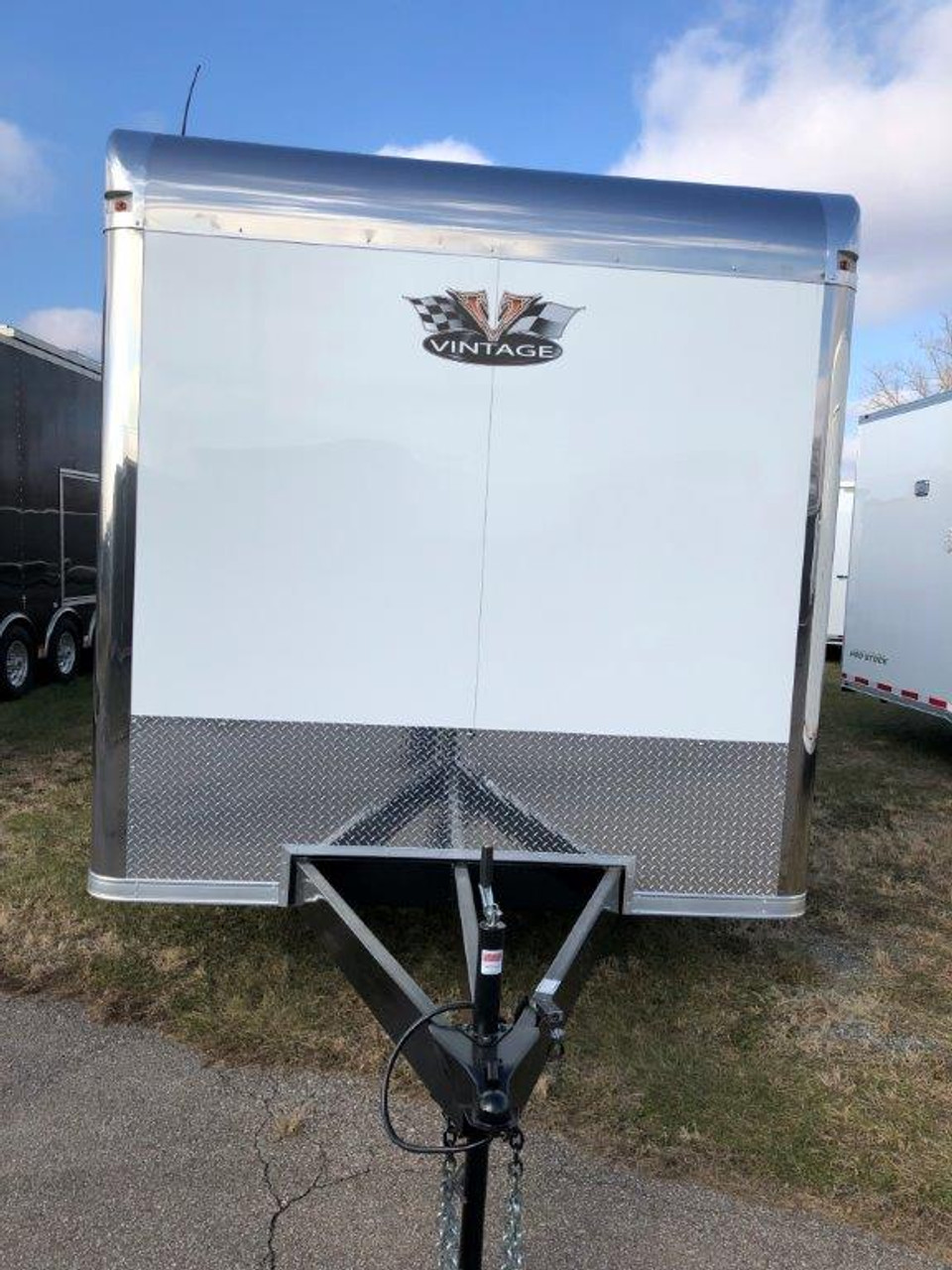 2019 34' Vintage Pro Stock Race Car Tag Enclosed Trailer front view