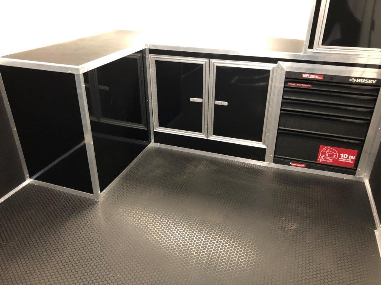 2019 34' Vintage Pro Stock Race Car Tag Enclosed Trailer black cabinets