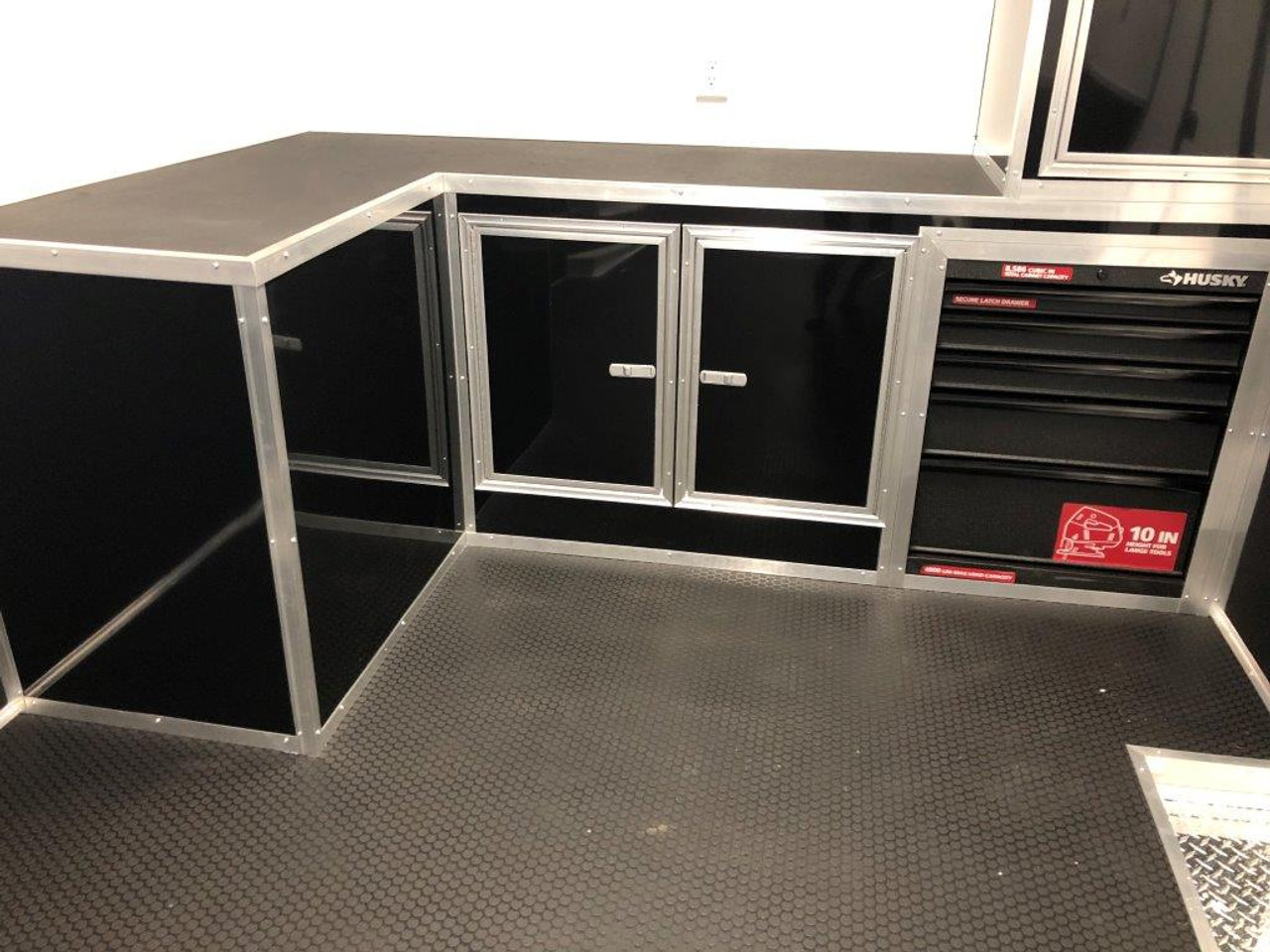 2019 32' Vintage Pro Stock Race Car Trailer front cabinets