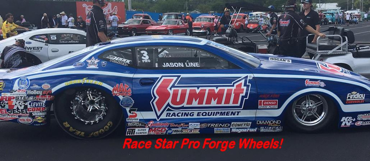 Jason Line 2018 Pro Stock Car Pro Forged Polished With Black Bead lock Ring Titanium Bead lock Bolts