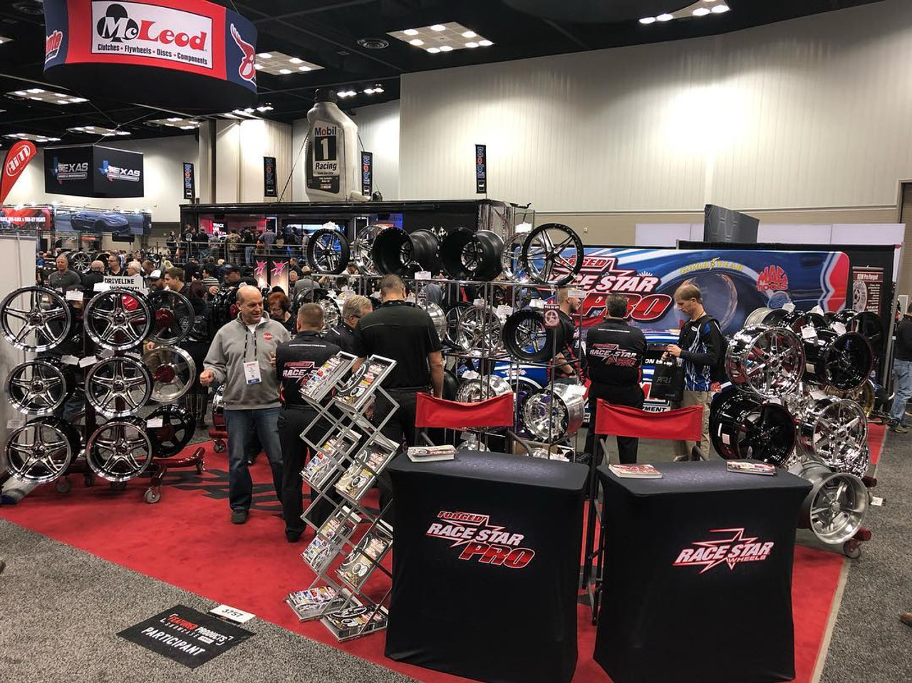 Race Star Pro Forged Wheels Performance Racing Industry  TRADE SHOW DISPLAY 2018