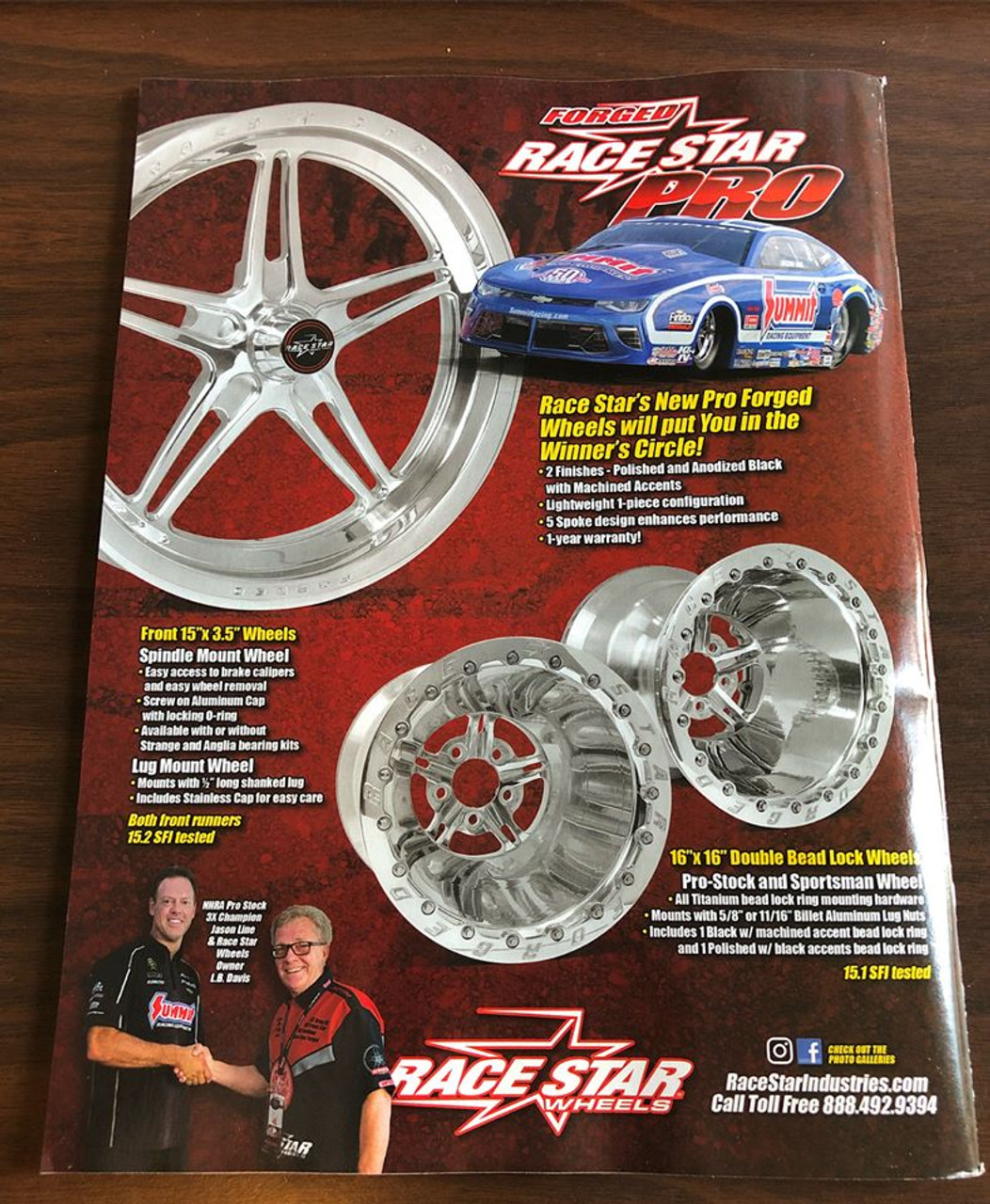 Race Star NEW Pro Forged Wheels, 16 X 16 Polished or Black Anodized  FREE SHIPPING