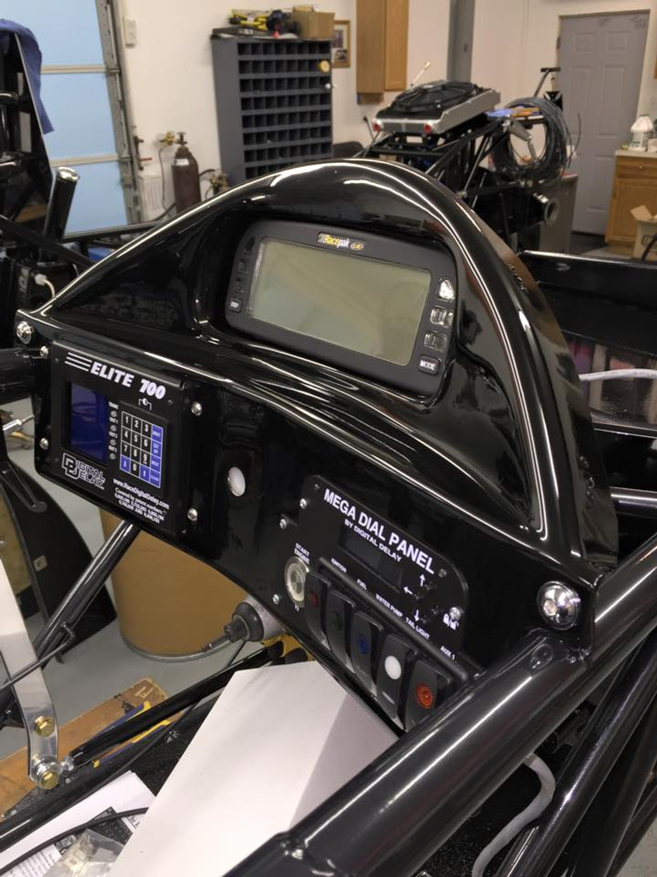 Danny Nelson Racecraft Chassis Dragster carbon dash