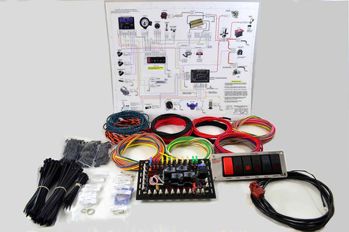 K&R SUPER DUTY Switch and Wiring Panel, Chrome