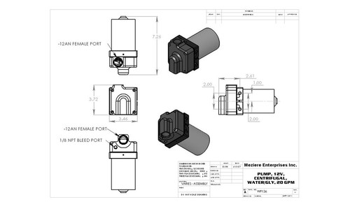 Meziere Inline Electric Water Pump