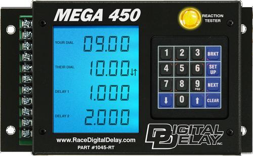 Digital Delay Mega 450 V3 Delay Box, Black OR Chrome, With Mega Dial Controller, Red, Blue OR Green LCD BackLite Screen