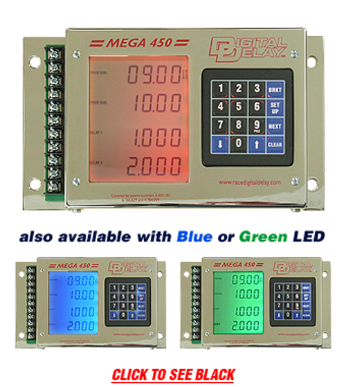 1045-pl-cr Digital Delay Mega 450 V3 Delay Box - CHROME