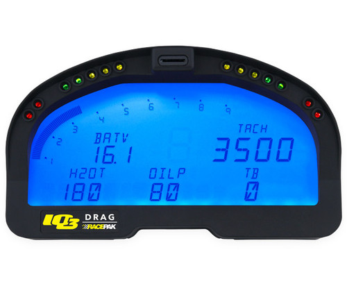 Racepak IQ3D Drag Racing Dash Bundle Kit (250-KT-IQ3DBB)