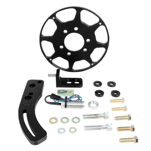 MSD 86203 BBC Black Crank Trigger Kit, Crank Trigger Kit, Fly. Magnet, BBC,BLK