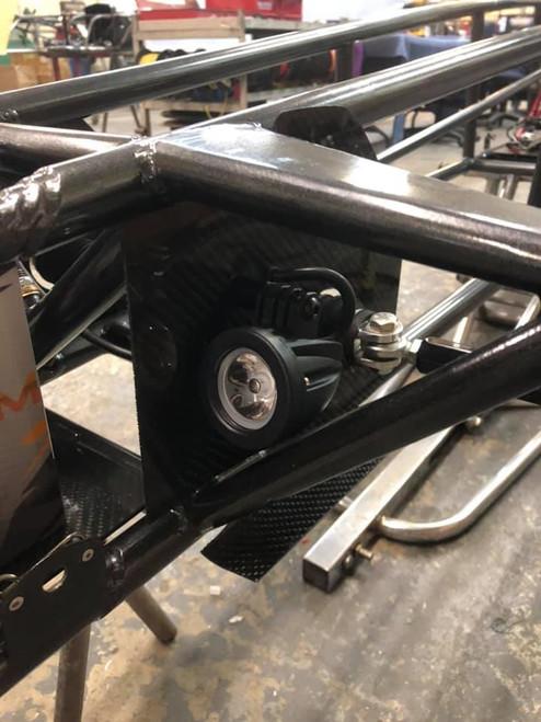 Black Alum. LED Dragster Headlights (pair)
