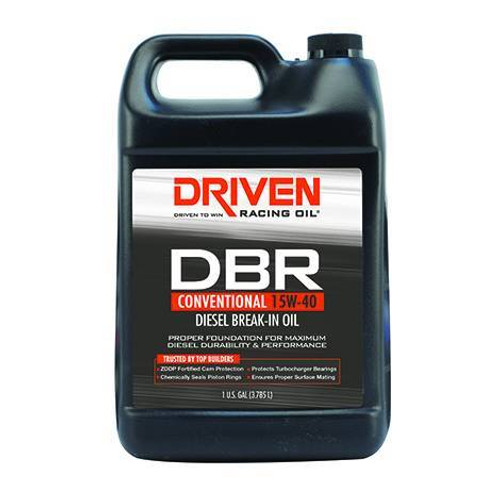 Driven DBR 15W-40 Conventional Diesel Break-In Oil - 1 Gallon