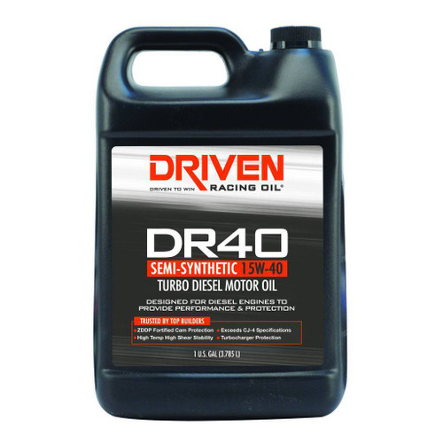 Driven DR40 Turbo Diesel Oil 15W-40 - 1 Gallon