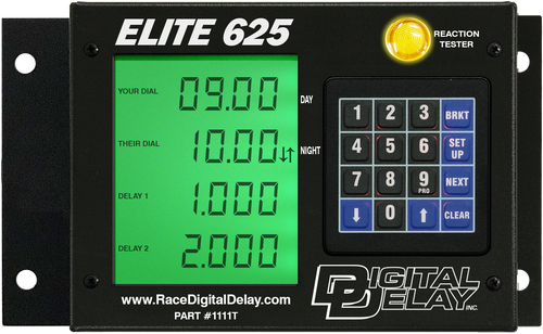 Digital Delay Elite 625 Delay Box, Black OR Chrome, With Mega Dial Controller, Red, Blue OR Green  LCD BackLite Screen