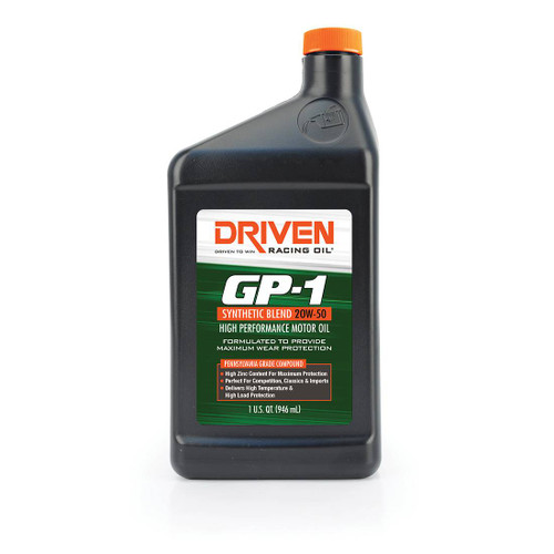 Driven 19506 GP-1 20W-50 Synthetic Blend High Performance Oil - WORKS GREAT WITH ANY ENGINE WITH POWER ADDERS, ON METHANOL !!