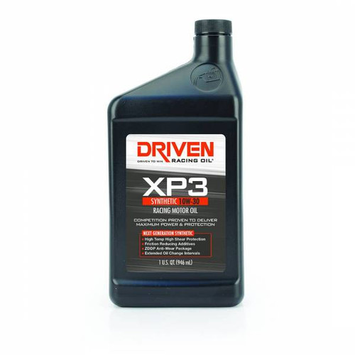 Driven  00306 XP3 10W-30 Synthetic Racing Oil - 1 Quart