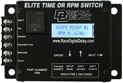 Digital Delay ELITE TIME or RPM SWITCH Shift by Time, RPM, or any combination of the two