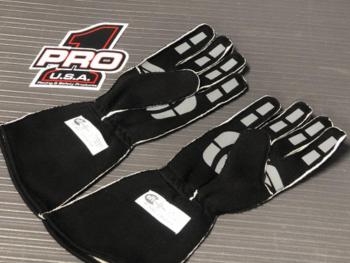 Pro 1 SFI3.3/5 Reverse Stitch Nomex Gloves Silicone Grip