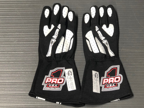 Pro 1 SFI3.3/5 Skeleton Nomex Gloves Silicone Grip