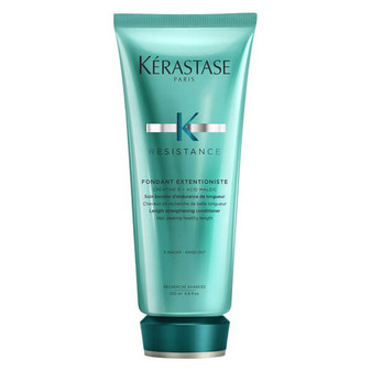 Length strengthening conditioner for hair seeking healthy length. Strengthens and fortifies hair for reduced breakage.