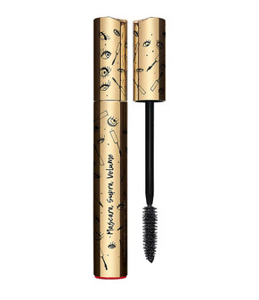 "Clarins' best-selling volumizing mascara gets a cute new limited edition package.  This innovative, double effect mascara visibly creates intense volume for a full, magnified lash look. Gentle formula is enriched with Cassie Flower wax and Panthenol to visibly thicken, smooth and help protect lashes. Rich color pigments create a dramatic ""dark lash"" effect. Clump-free. Long-wearing.  Deliver intense color and volume for a full, lush, magnified lash look!"