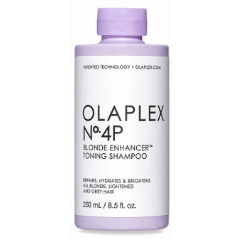 All Olaplex products contain patented technology, strengthening fragile bonds with every step of the routine for the healthiest hair possible. The best-selling shampoo, is now formulated to celebrate the beauty of blonde. Olaplex No.4 Bond Maintenance Shampoo cleanses while adding hydration and repair. The newest addition to the family, Olaplex No.4-P maintains all the benefits of the original and deposits just the right amount of tone to neutralize any unwanted warmth between salon visits.