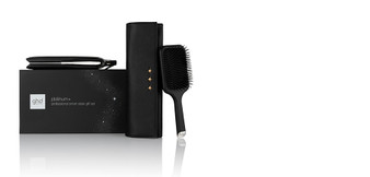Your queen deserves nothing but the best, so treat her this Christmas with the ghd platinum+ gift set. Featuring a paddle brush and chic styler bag to complete her styling kit, give your queen the gift of a good hair day that she can enjoy all year long!     The ghd platinum+ is our most advanced hair straightener, so intelligent it predicts the needs of your hair as you style. Suitable for all hair types, the ghd platinum+ is equipped with ultra-zone technology to adapt the power according to your styling speed and the thickness of your hair, so you can enjoy beautiful results, tailored to you. The infinity sensors within each styling plate monitor heat 250x a second to ensure the optimum styling temperature of 185ºC is maintained throughout styling, to deliver beautiful results in just one stroke.     The styling plates of the ghd platinum+ are precision-milled and finished with a high spec gloss to allow your hair to pass smoothly through, whilst the unqiue wishbone hinge holds the plates in perfect alignment for an effortless styling experience. The ghd platinum+ is more than just a styler - the rounded barrel allows you create a myriad of styles including classic curls and beachy waves with ease and control.     Make her Christmas wishes come true with the gift of the ghd platinum+ hair straightener in this gorgeous gift set.