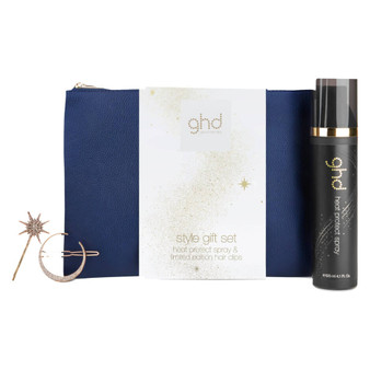 A gorgeous set featuring the fan-favorite ghd heat protect spray and two limited-edition star hair clips for on-the-go styling. The perfect gift for a loved one or a yourself.