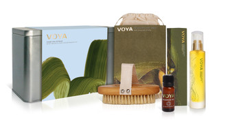 Voya Home Spa Retreat - Body Brush & Skin Nourishment Kit