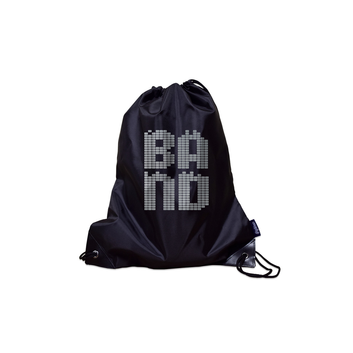 Band Poly Metallic Drawstring Bag