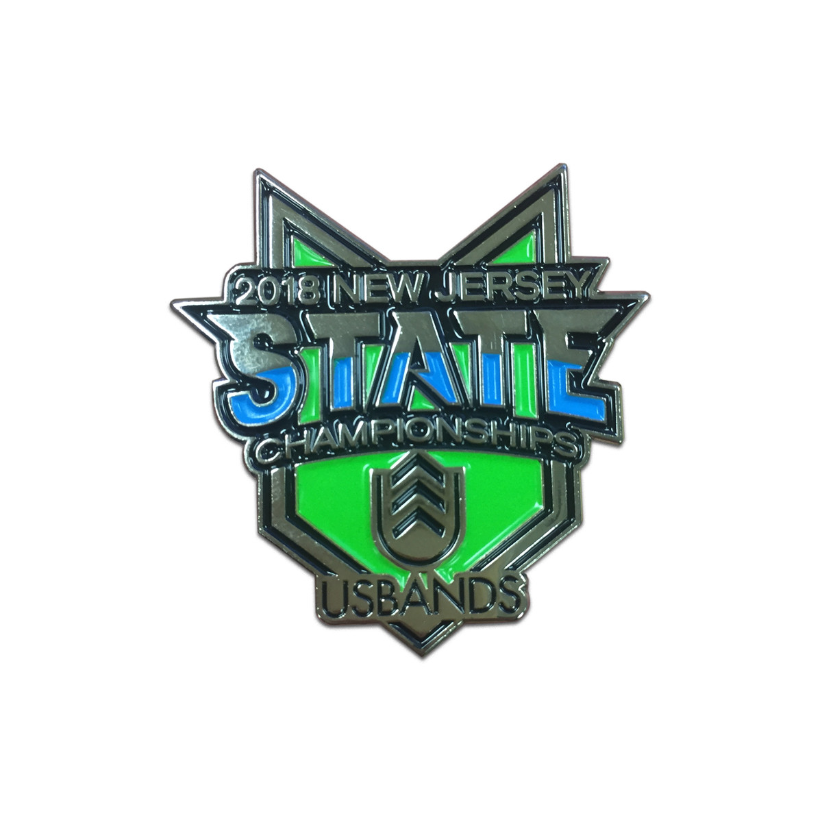 2018 USBands New Jersey State  Championship Event Pin