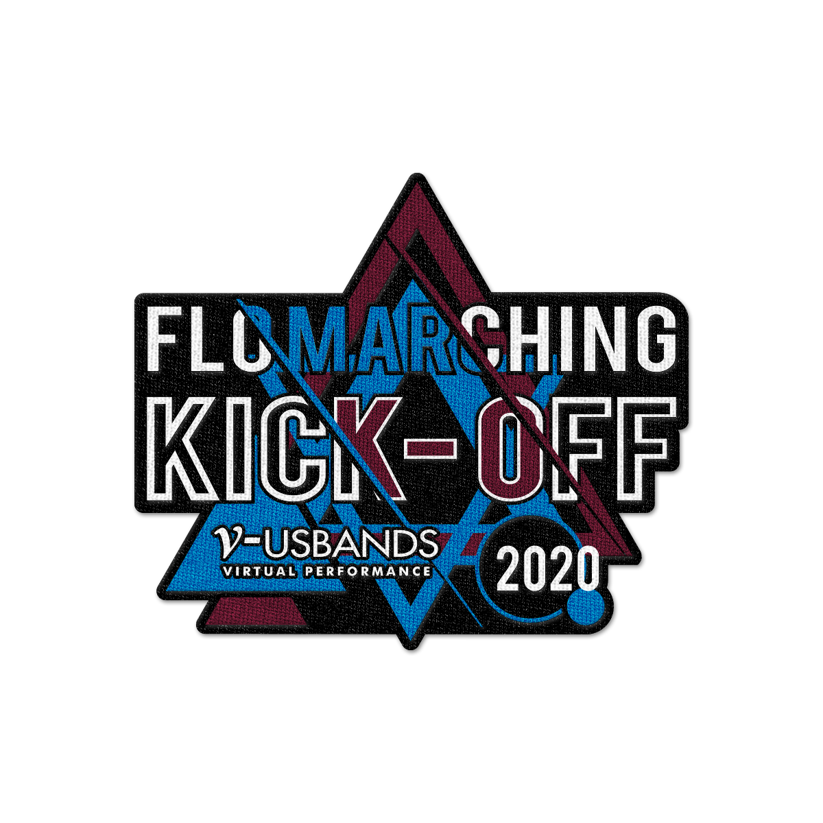 2020 V-USBands FLO Marching Kick-Off Patch