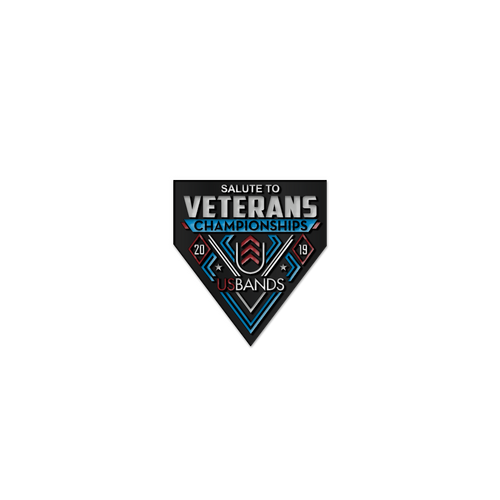 2019 USBands Salute to Veterans Championships Pin
