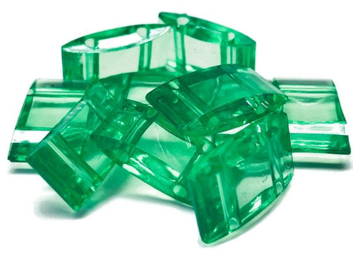 Acrylic Carrier Bead - Soft Evergreen - PKG/50