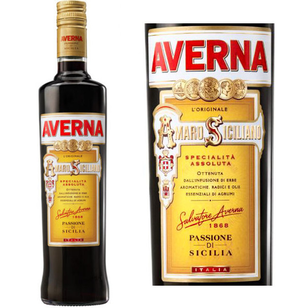 Averna Amaro Digestive Bitters (Italy) 750ml Rated 91BTI