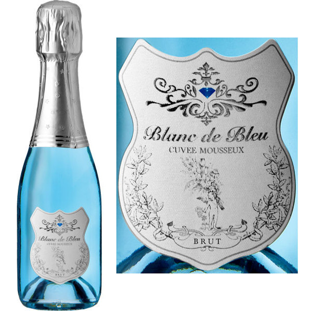 Blanc de Bleu Cuvee Mousseux Sparkling NV 187ml is full and round with smooth flavors and fine persistent bubbles. The extra measure of Chardonnay contributes elegance and austerity